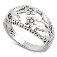 Sterling Silver Twin Flower Ring