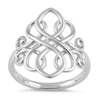 Sterling Silver Unique Celtic Ring