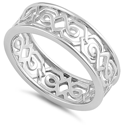 Sterling Silver Unqiue Patterns Ring