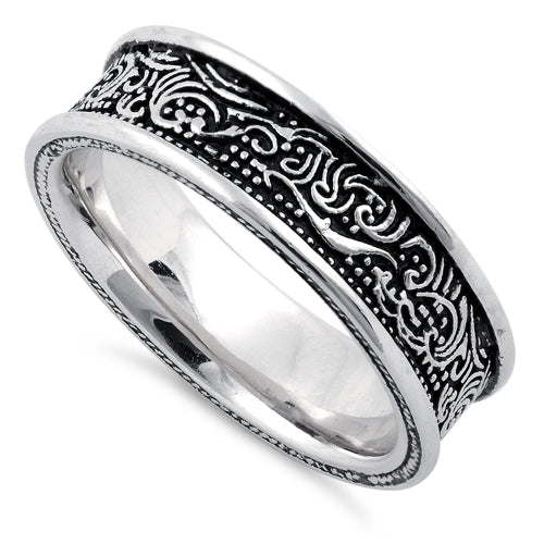 Sterling Silver Wave Pattern Ring