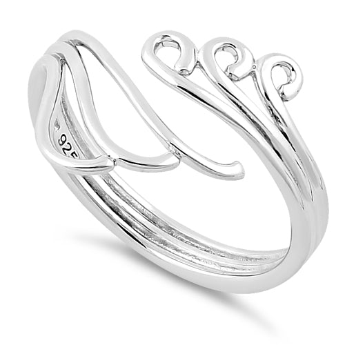 Sterling Silver Waves & Wind Ring