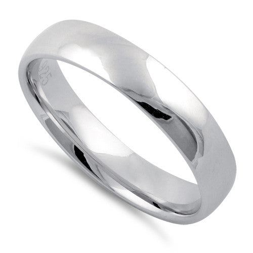 Sterling Silver Wedding Bands.Sterling Silver Wedding Band 4mm