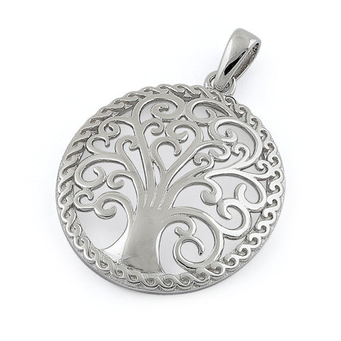 Sterling Silver Whimsic Tree of Life Pendant