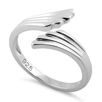 Sterling Silver Wings Adjustable Ring