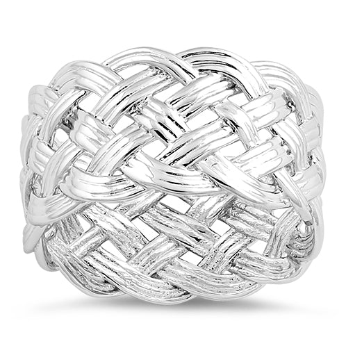 Sterling Silver Woven Knot Ring
