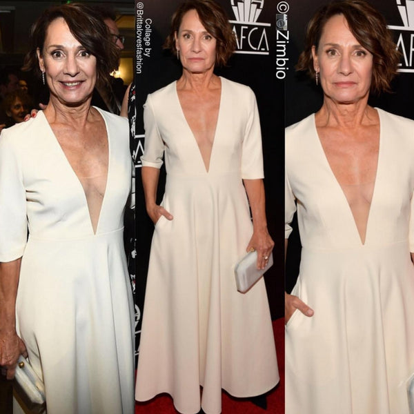 """Lady Bird"" Actress Laurie Metcalf Steps Out in Pollice Lee At The Los Angeles Film Critics Association Awards"