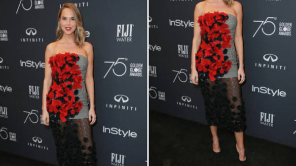 Actress Arielle Kebbel Steps Out in Pollice Lee at the Hollywood Foreign Press and InStyle Celebration