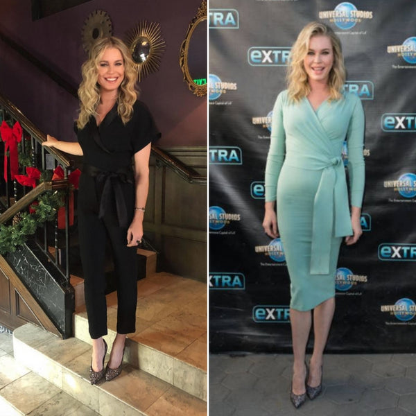 "Rebecca Romijn Wears Our Heels During Press for ""The Librarians"""