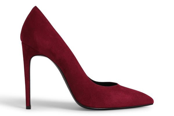 Pollice 110 (Dark Red Suede)