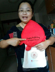 Blood donation pillow for birthday donor - iluvsoaps