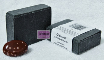 Charcoal & Aniseed Myrtle - iluvsoaps Singapore