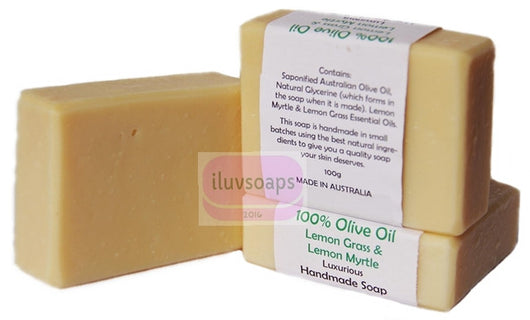 100% Olive Oil Lemongrass Lemon Myrtle - iluvsoaps Singapore