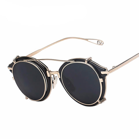 Vintage Steampunk Clip on Sunglasses