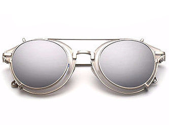 Vintage Steampunk Clip on Sunglasses - God Republic