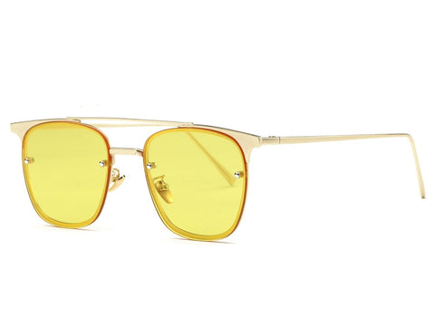 Retro Ocean Tint Lens Square Sunglasses - God Republic