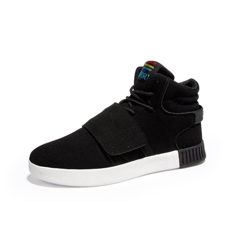 Men High-Top Gold Cuffs Breathable Sneakers - God Republic