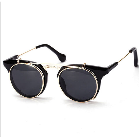 Retro Double Sunglasse Clip On - God Republic