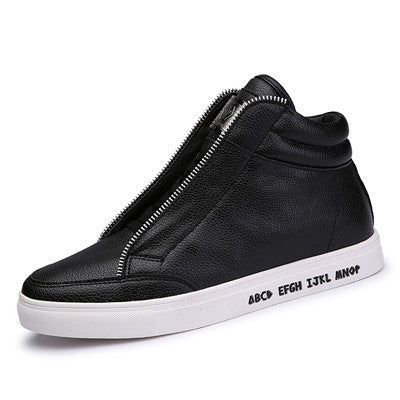 Men High-Top Zipper Sneakers
