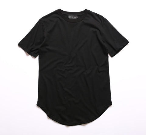 Men Longline Curved Hem Hip-Hop Tee - God Republic