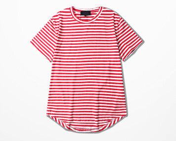 Men Hip-Hop Striped Tee