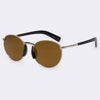 Oval Mirror Sunglasses Men Unique Designer Sunglasses