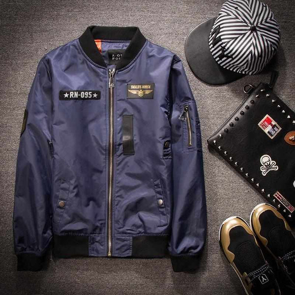 Men Mile Fly Military Air force Bomber Jacket