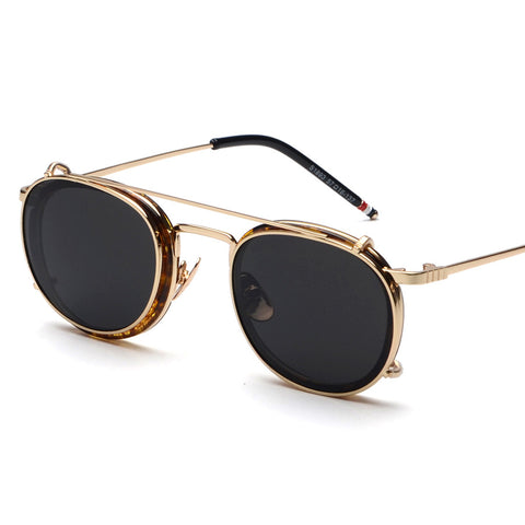 Unisex Retro Clip On Sunglasses