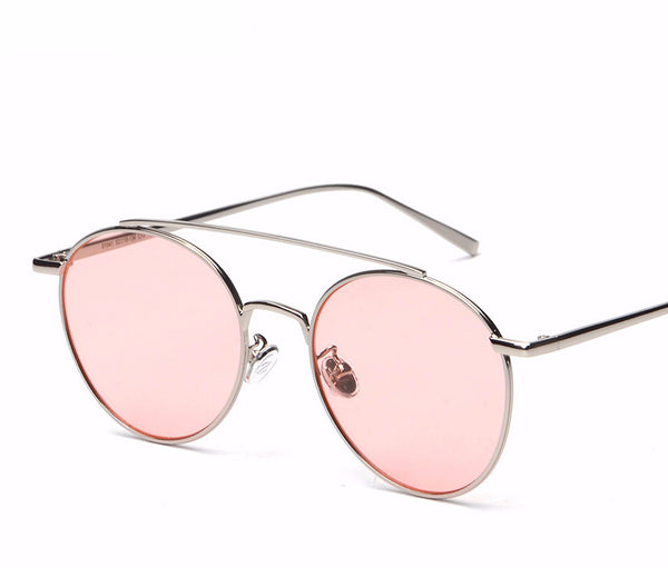 Round Frame Tint Sunglasses UV400