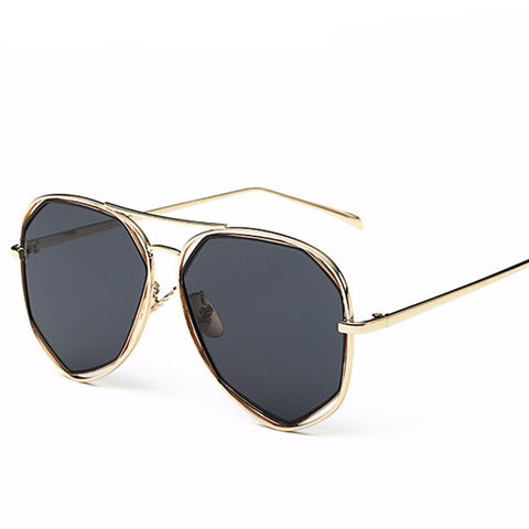 Hexagon Mirror Sunglasses UV400