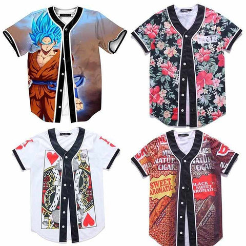 Baseball T-Shirts Short Sleeve Multi Color - God Republic