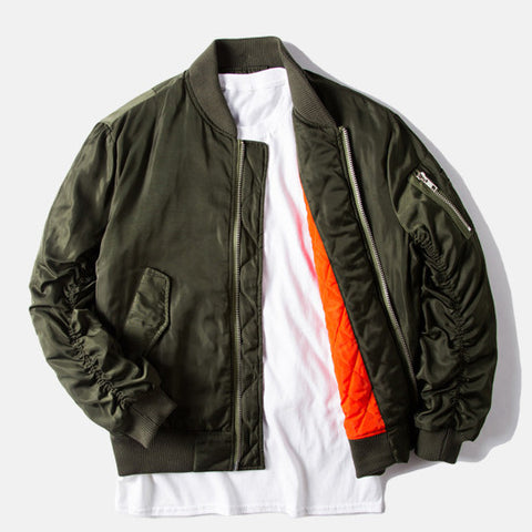 Retro Flight Pilot Bomber Jacket - God Republic