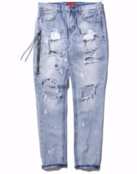 Knee Frayed Casual Biker Ripped Denim Jeans
