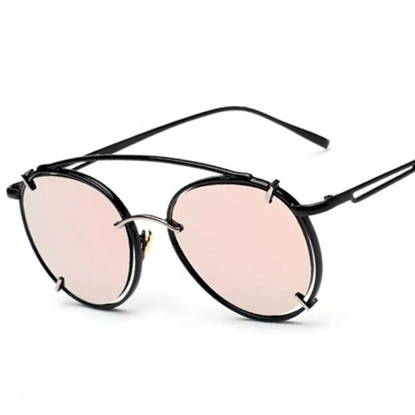 Retro Hollow Out Metal Frame Round Sunglasses UV400