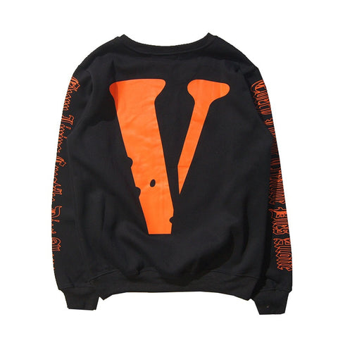 V Print Crewneck Sweatshirt - God Republic