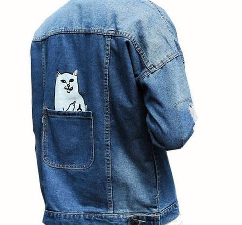 Unisex Blue Denim Jacket - God Republic
