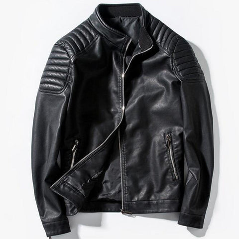 Men Leather Biker Jacket