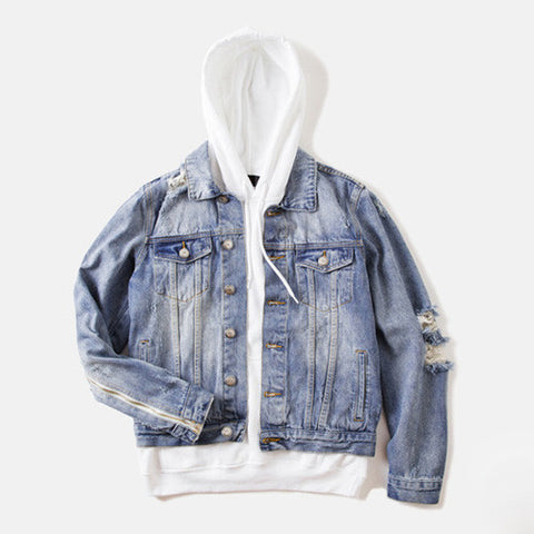Men Distressed Denim Jacket - God Republic