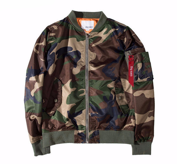 Men Camouflage Bomber Jacket