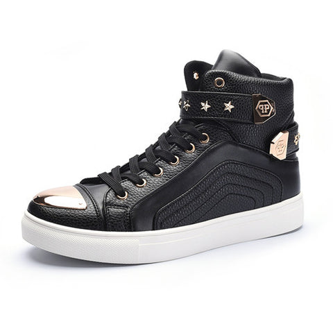 Men High-Top Star Studded Sneakers