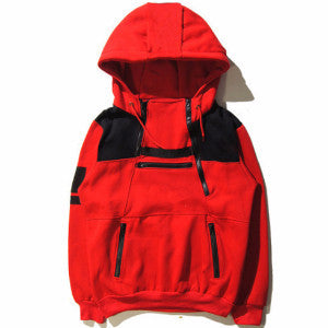 Men Multi Zipper Skateboard Hoodie