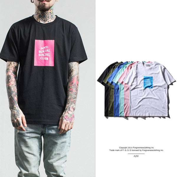 f152c37f6c89 Hip Hop Men Anti Social Social Club T-shirt and GD Kanye West Short ...