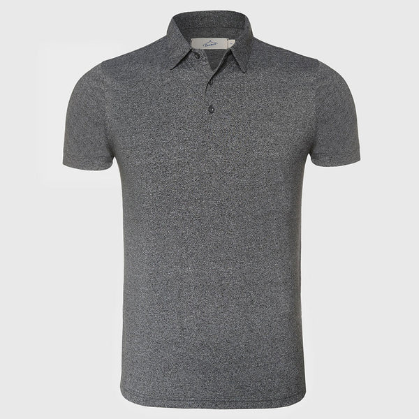 Men New Summer Polo T Shirt Casual Lines Short Sleeve Slim Fit Tee