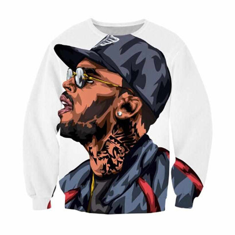 """Chris Brown"" Crewneck Hip-Hop Sweatshirt"
