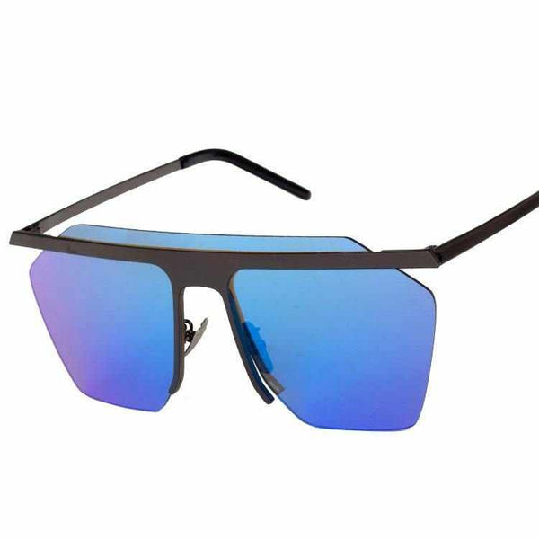 Luxury Rimless Lens Square Frame Sunglasses Cosy Shades Men Designer Eyewear