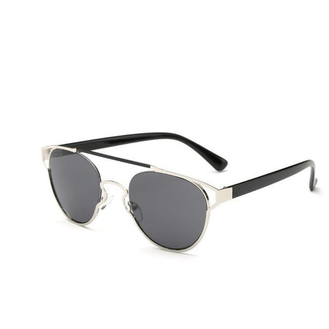 Men Metal Round Vintage Reflective Sunglasses UV400