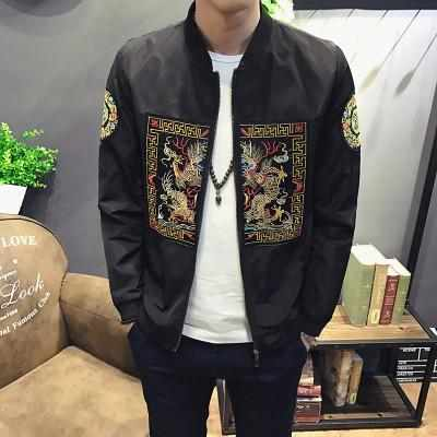 Men MA1 Pilot Kanye West Casual Chinese Printed Bomber Jacket
