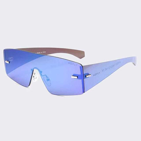 Men Flat Top Rimless Future Sunglasses Mirror Goggles