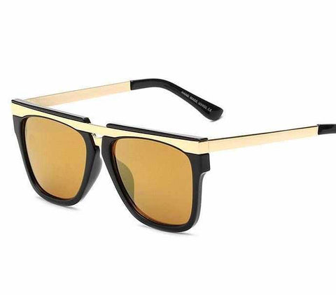 Men Mirror Horizontal Beam Vintage Sunglasses Fashion UV400 Mirrors HD Lens