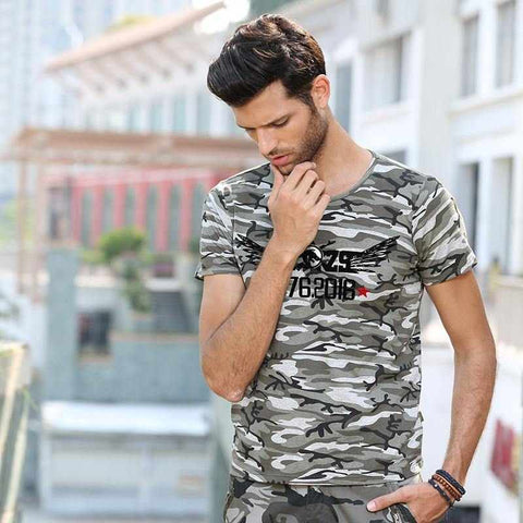 Man Casual Camouflage T-shirt O-neck Cotton Army Tactical Combat T Shirt Military Camo Mens T Shirts Fashion 2016 Tees