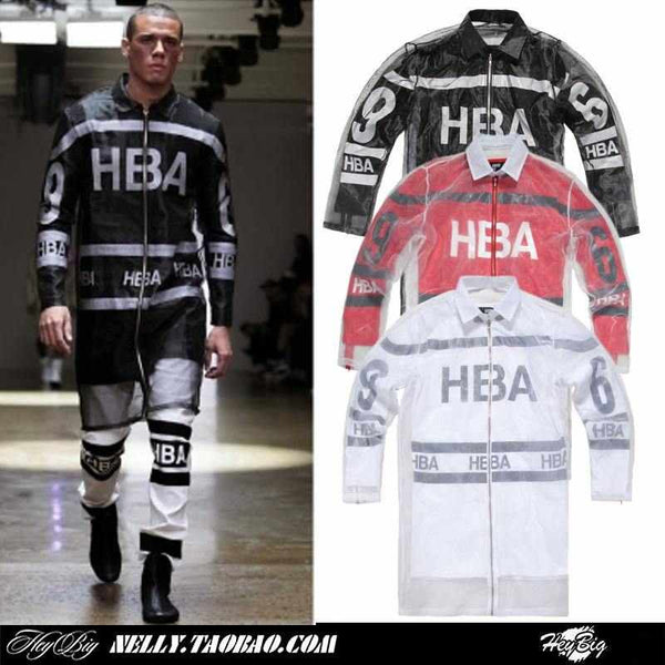 Men Hood By Air HBA EXO jacket with double-layer mesh couple long-sleeved outerwear